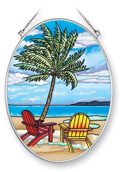 Amia 5375 Inlet Palms Medium Oval Suncatcher