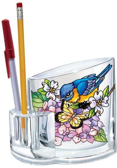 Amia 5435 Blue Skies Bluebirds Pencil Holder