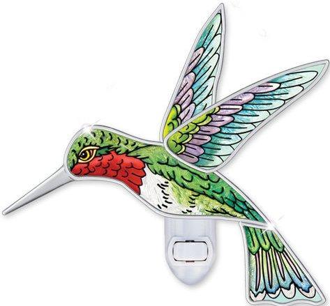 Amia 5449 Ruby Throated Hummingbird Night Light