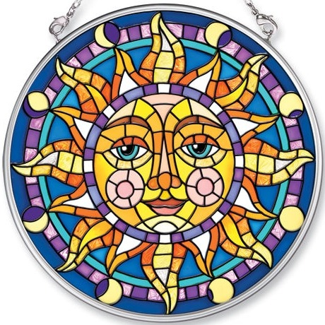 Amia 5451 Mosaic Sun Medium Circle Suncatcher