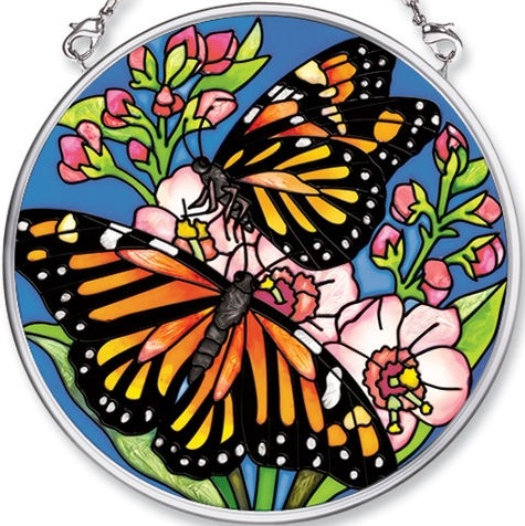 Amia 5481 Butterfly Kiss Small Circle Suncatcher