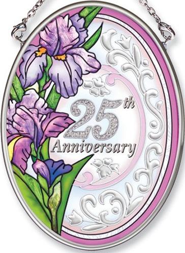 Amia 5530 25th Anniversary Small Oval Suncatcher
