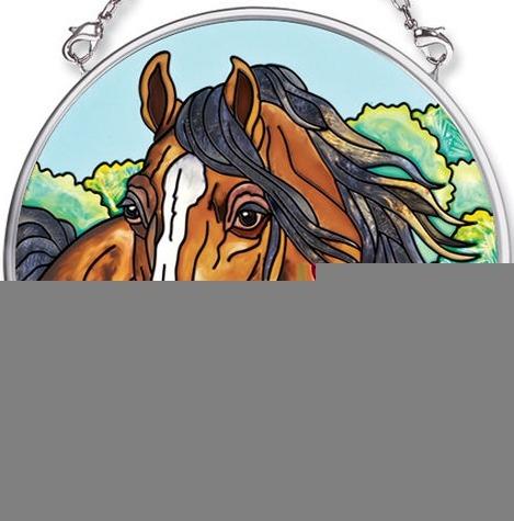 Amia 5584 Horse Small Circle Suncatcher