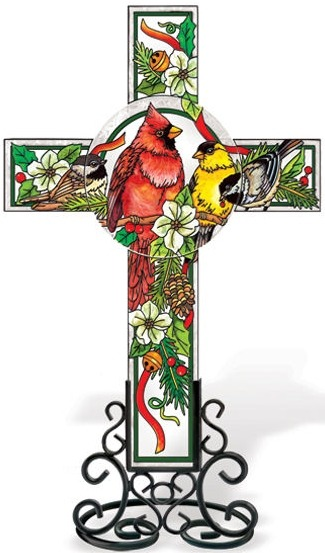 Amia 5611 Birds of Cheer Inspirational Cross