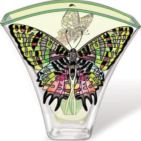 Amia 5620 Madagascan Sunset Moth Fan Shaped Vase