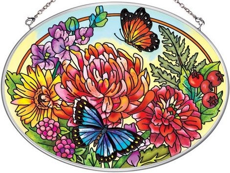 Amia 5644 Indian Summer Medium Oval Suncatcher