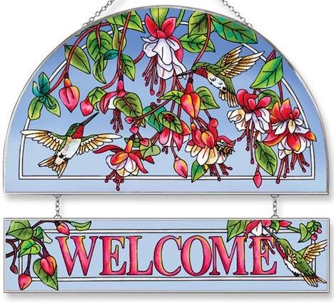 Amia 5679 Cascading Fuchsia Welcome Panel