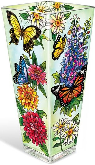 Amia 5686 Butterfly Garden In Bloom Vase