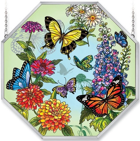 Amia 5694 Butterfly Garden In Bloom Large Octagon Panel