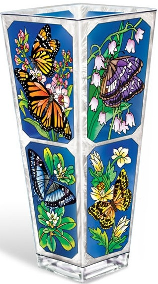 Amia 5696 Butterfly Kisses Vase Large