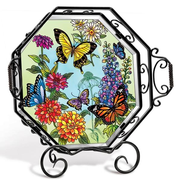 Amia 5708 Butterfly Garden In Bloom Tray