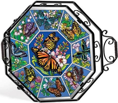 Amia 5709 Butterflies Kisses Tray