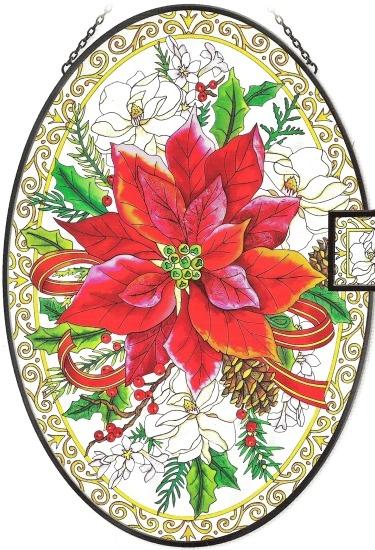 Amia 5728 Poinsettias & Magnolias