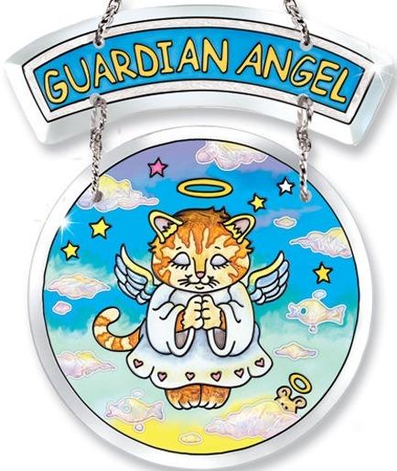 Amia 5746 Guardian Angel 2 Piece Suncatcher