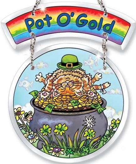 Amia 5748 Pot O' Gold 2 Piece Suncatcher