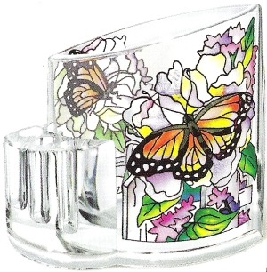 Amia 5753 Peony & Lilacs Pencil Holder