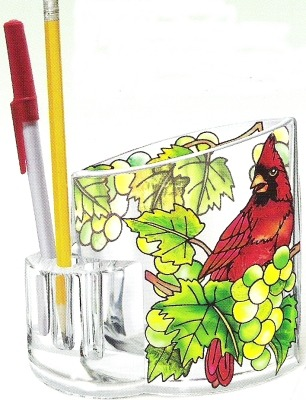 Amia 5756 Grapevine Cardinal Pencil Holder