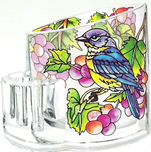 Amia 5757 Grapevine Bluebird Pencil Holder
