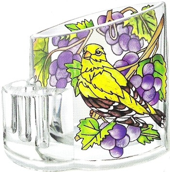 Amia 5758 Grapevine Goldfinch Pencil Holder