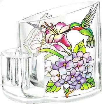 Amia 5759 Hydrangea and Hummingbirds Pencil Holder