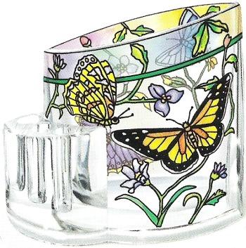 Amia 5761 Rainbows & Butterflies Pencil Holder