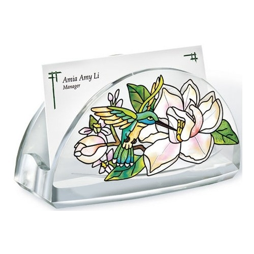 Amia 5775 Still Magnolias Business Card Holder