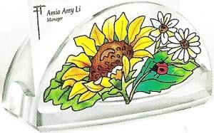 Amia 5776 Sunny Composition Business Card Holder