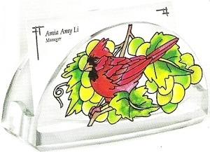 Amia 5779 Grapevine Cardinal Business Card Holder
