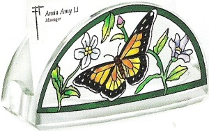 Amia 5780 Rainbows & Butterflies Business Card Holder