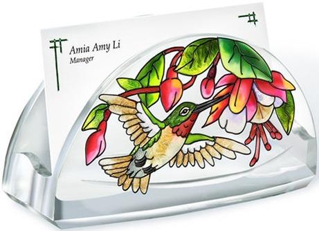 Amia 5783 Cascading Fuchsia Business Card Holder