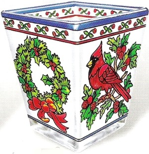 Amia 5791 Cardinal in the Holly Petite Votive Holder