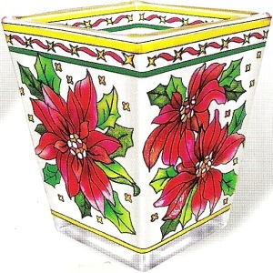 Amia 5792 Poinsettia Petite Votive Holder
