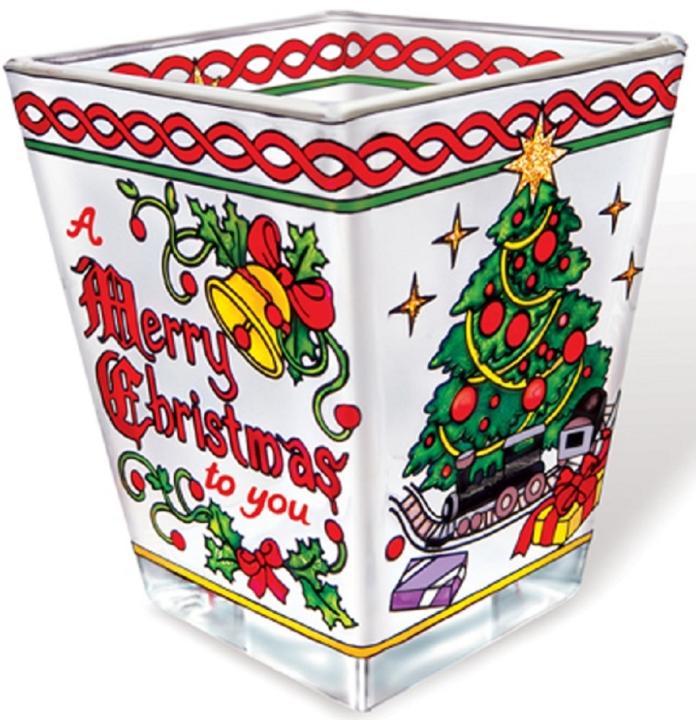 Amia 5793 Merry Christmas Petite Votive Holder
