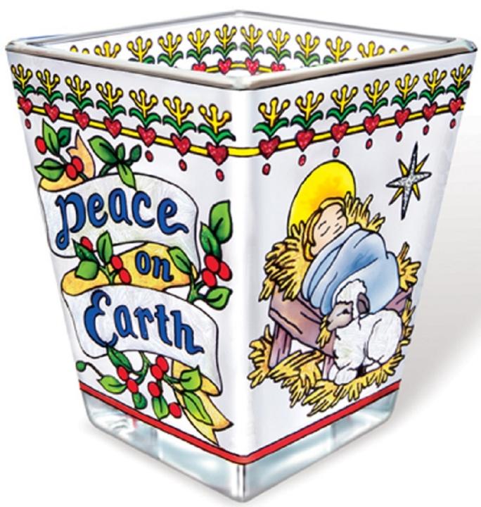 Amia 5794 Peace On Earth Petite Votive Holder