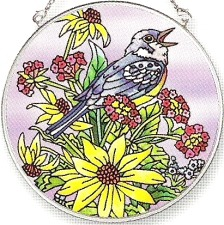 Amia 5830 Warbler Medium Circle Suncatcher