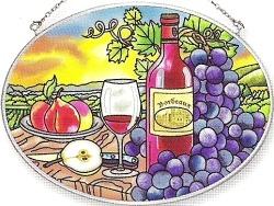 Amia 5867 Bordeaux Medium Oval Suncatcher
