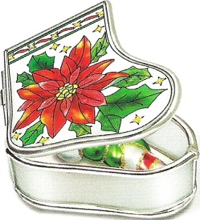 Amia 5890 Poinsettia Stocking Jewelry Box