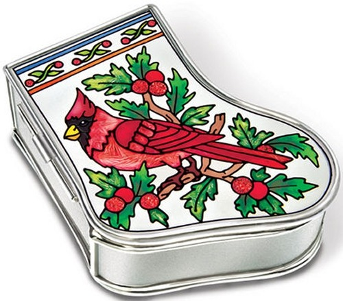 Amia 5891i Cardinal Stocking Jewelry Box