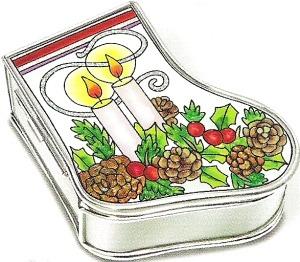 Amia 5894 Candle Stocking Jewelry Box