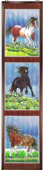 Amia 5920 Wild Horses I Window Panel
