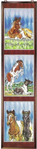 Amia 5921 Wild Horses II Window Panel