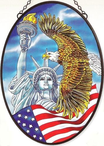 Amia 5943 Liberty Jumbo Oval Suncatcher