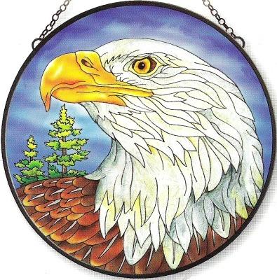 Amia 5945 Eagle Jumbo Circle Suncatcher