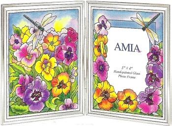 Amia 5953 Fancy Pansies Photo Frame