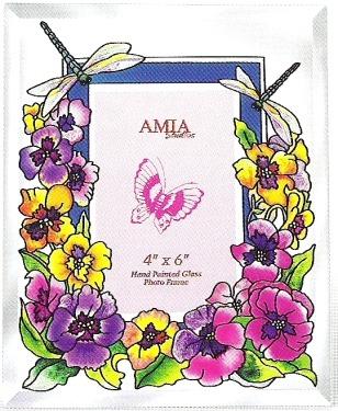 Amia 5954 Fancy Pansies Large Photo Frame