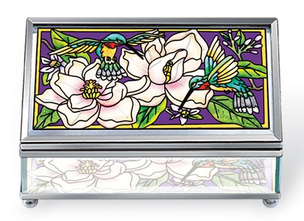 Amia 5956 Still Magnolias Medium Jewelry Box