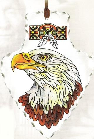 Amia 5988 Eagle Large Arrowhead Suncatcher
