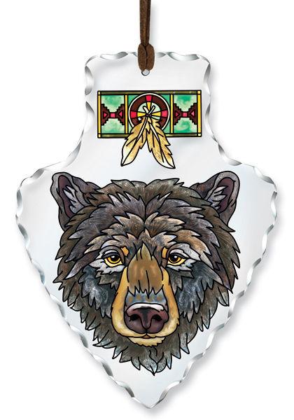 Amia 5993 Bear Large Arrowhead Suncatcher