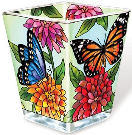 Amia 6089 Butterfly Garden In Bloom Petite Votive Holder