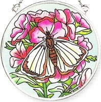 Amia 6145 Large White Small Circle Suncatcher